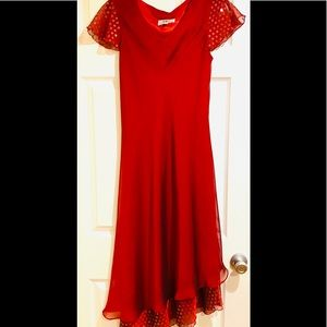 Vintage Fierce Red Cocktail Dress